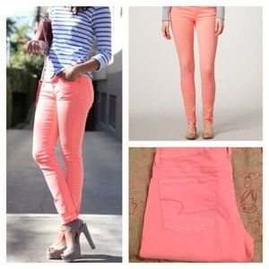 AMERICAN EAGLE JEGGING STRETCH- Size 0- Coral